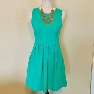 J.Crew Sleeveless Jersey Dress [w/pockets], Green